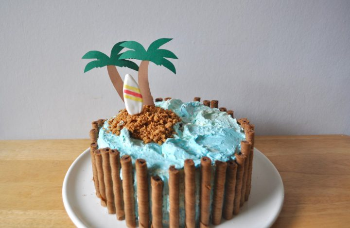 Eine Motivtorte in der Sommer Edition: Backerellas Strand-Torte
